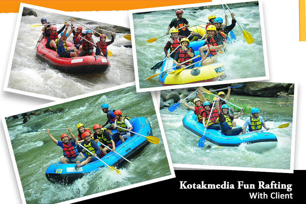 "Recharge Day  ""Kotakmedia Fun Rafting With Client"""